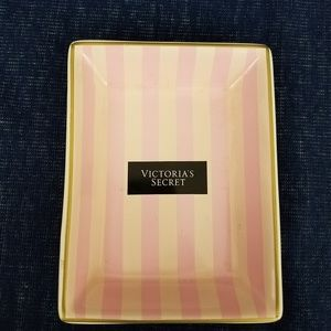 Victoria Secrets Vanity Tray Pink And White Stripe